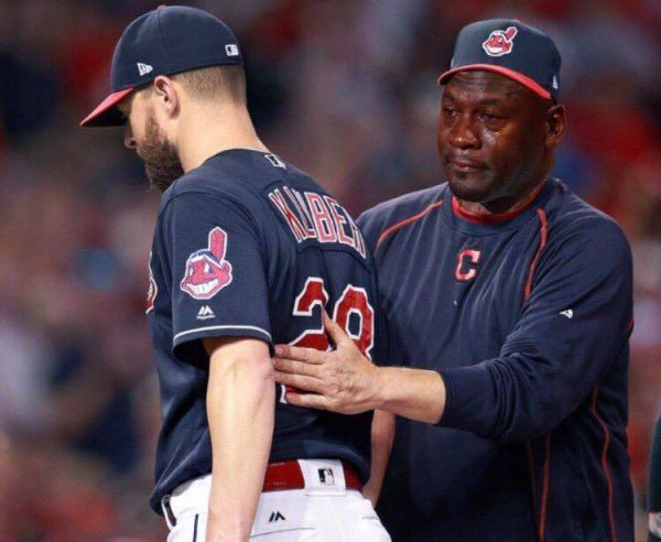 Crying Jordan Kluber