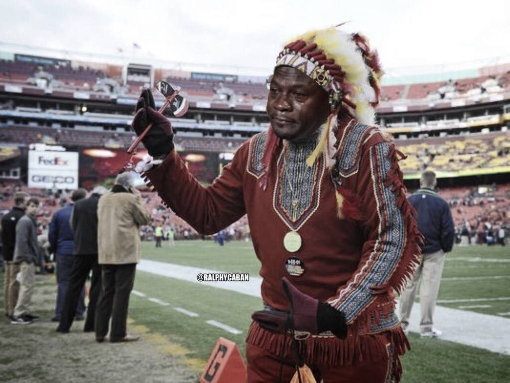 Crying Jordan Redskins Native American