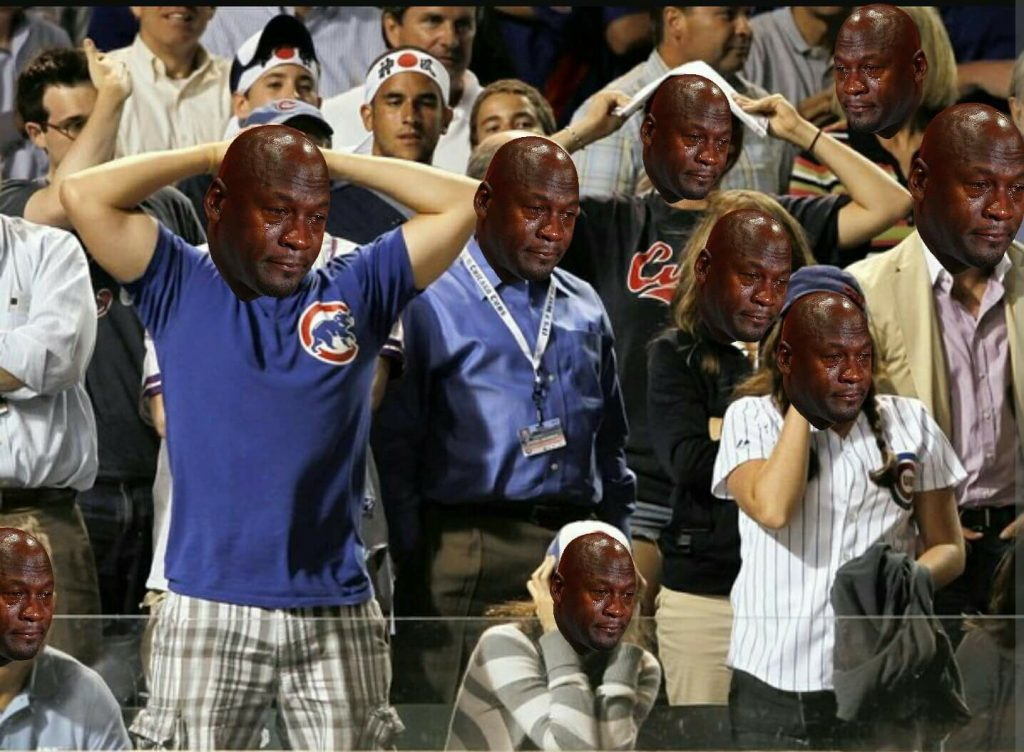 Cubs fans crying jordan