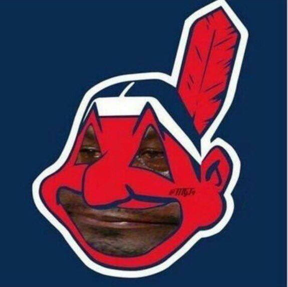 Indians Logo Crying Jordan