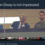 John Elway is not impressed