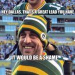 Rodgers Kills Cowboys Leads