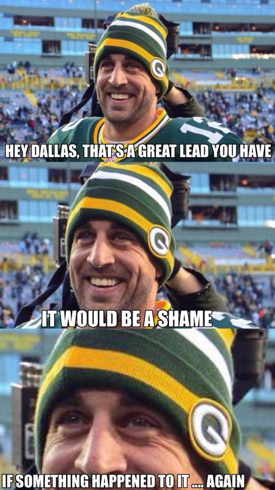 Rodgers Kills Cowboys Leads