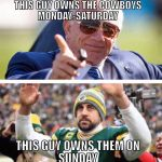 Rodgers Owns the Cowboys