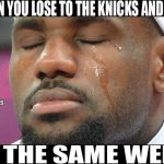 Same week losses Nets Knicks
