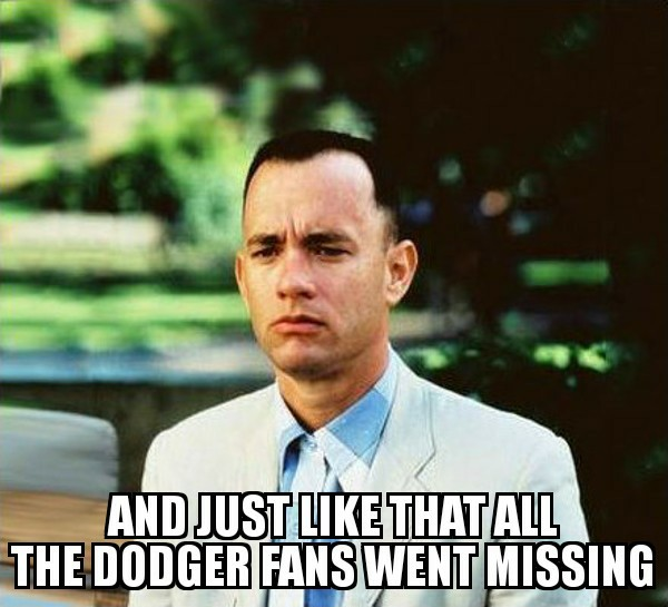 The Dodgers went missing