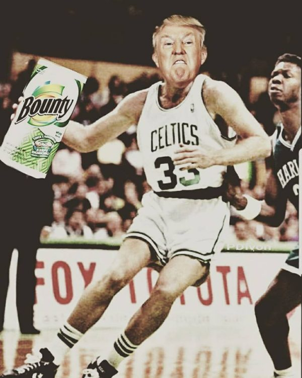 Trump Larry Bird