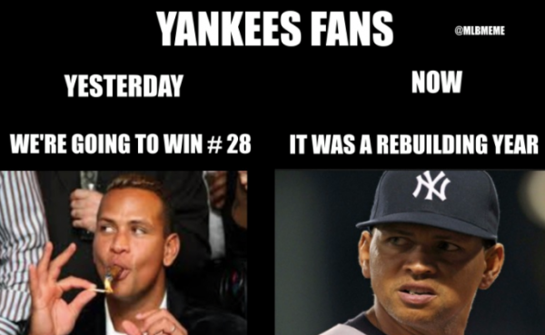 Yankees not going to the world series