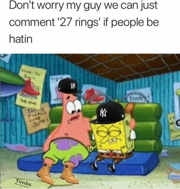 Yankees Spongebob