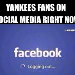 Yankees fans logging out