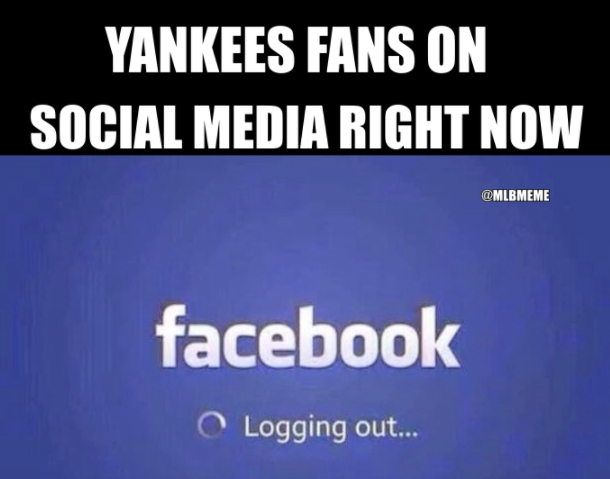 Yankees fans logging out