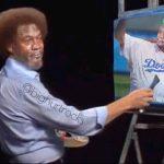 Bob Ross Painting Crying Jordan