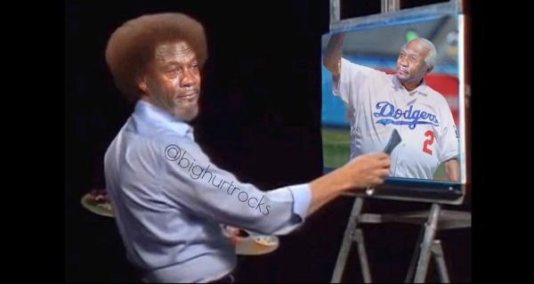 Bob Ross Painting Crying Jordan