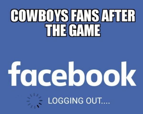 Cowboys fans logging out