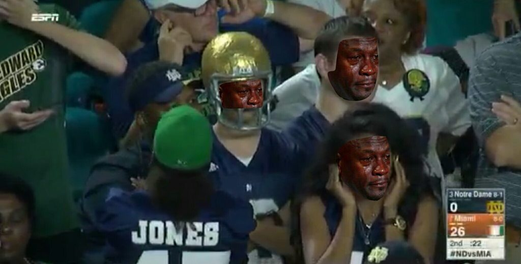 Crying Jordan ND Fans