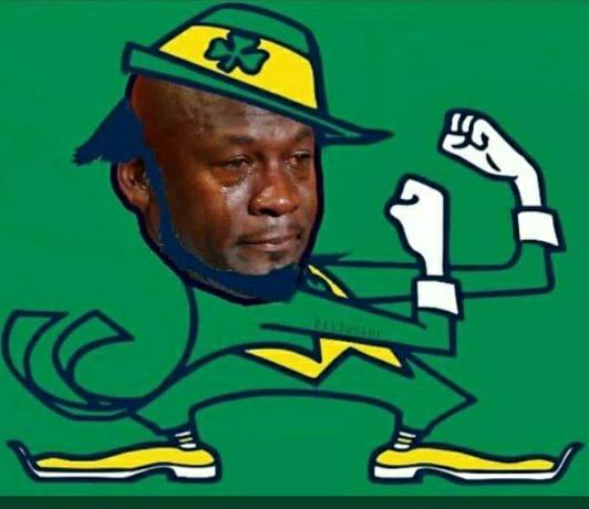 Crying Jordan ND Leprechaun
