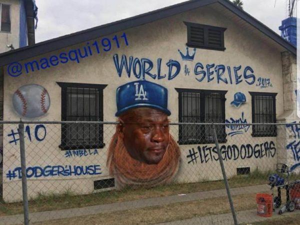Dodgers Graffiti Crying Jordan