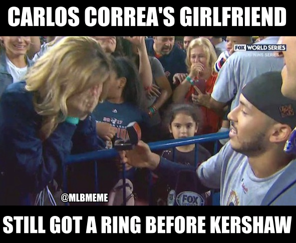 Got a ring before Kershaw
