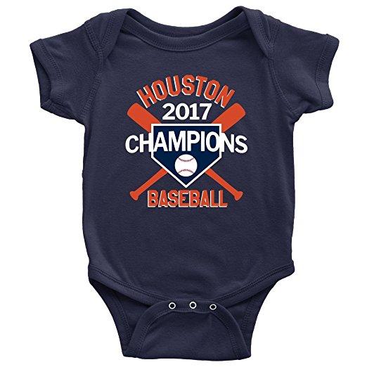 Houston Astros World Series Champions Baby Onesie