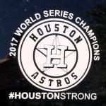 Houston Astros World Series Champions Car Sticker