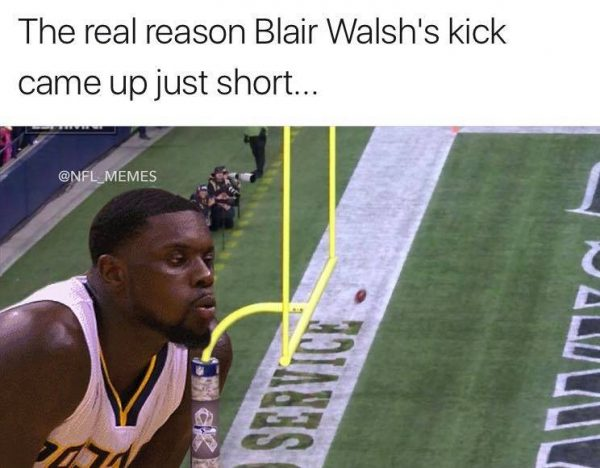 Lance Stephenson meme Blair Walsh Kick