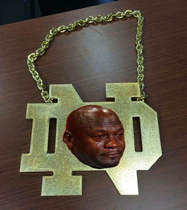 ND Chain Crying Jordan
