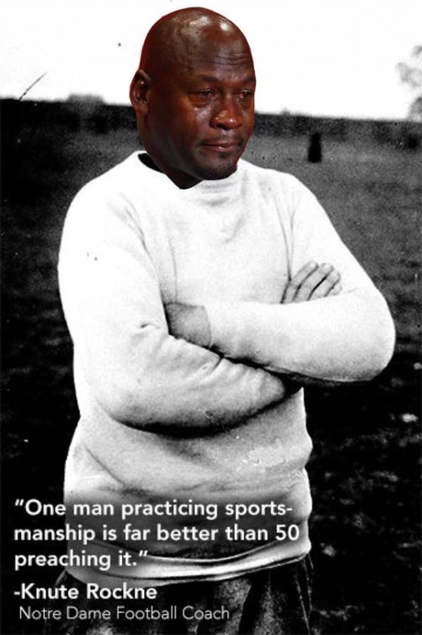 Notre Dame Crying Jordan