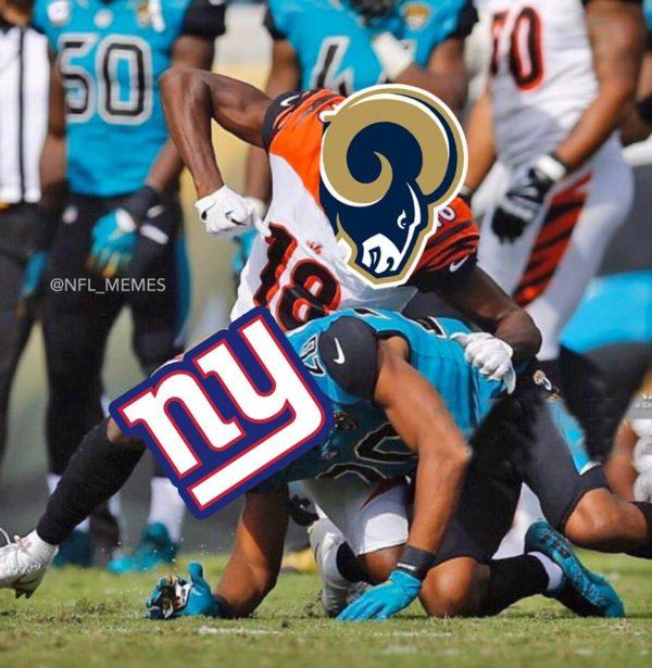 Rams destroying Giants