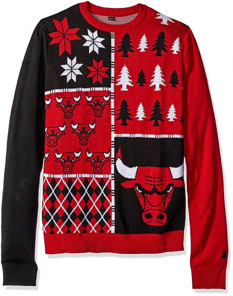 Chicago Bulls ugly Christmas sweater