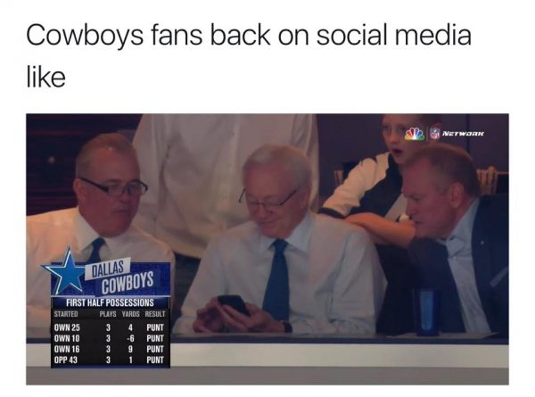 Cowboys Fans back on Social Media
