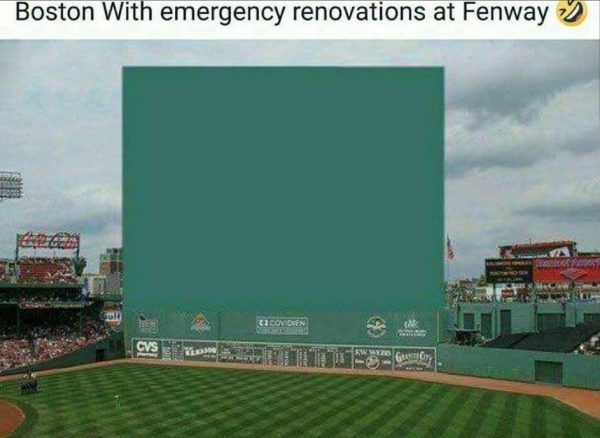 Emergency Wall at Fenway