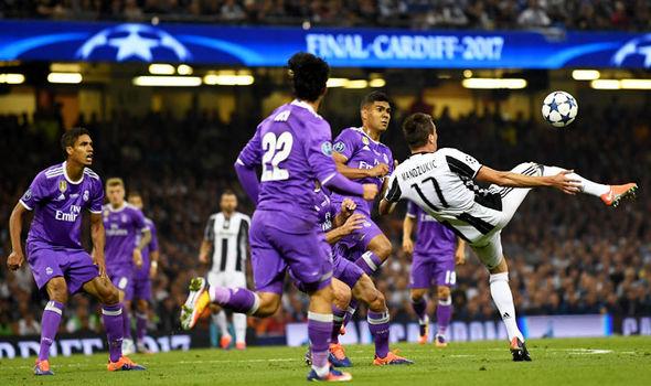 Mario Mandzukic Goal Juventus Real Madrid