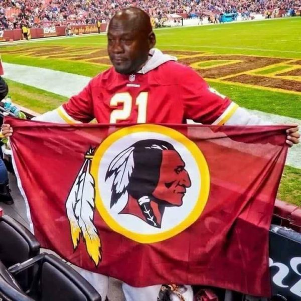 Redskins Fan Crying Jordan