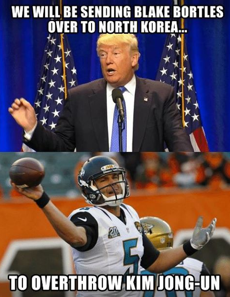 Bortles North Korea