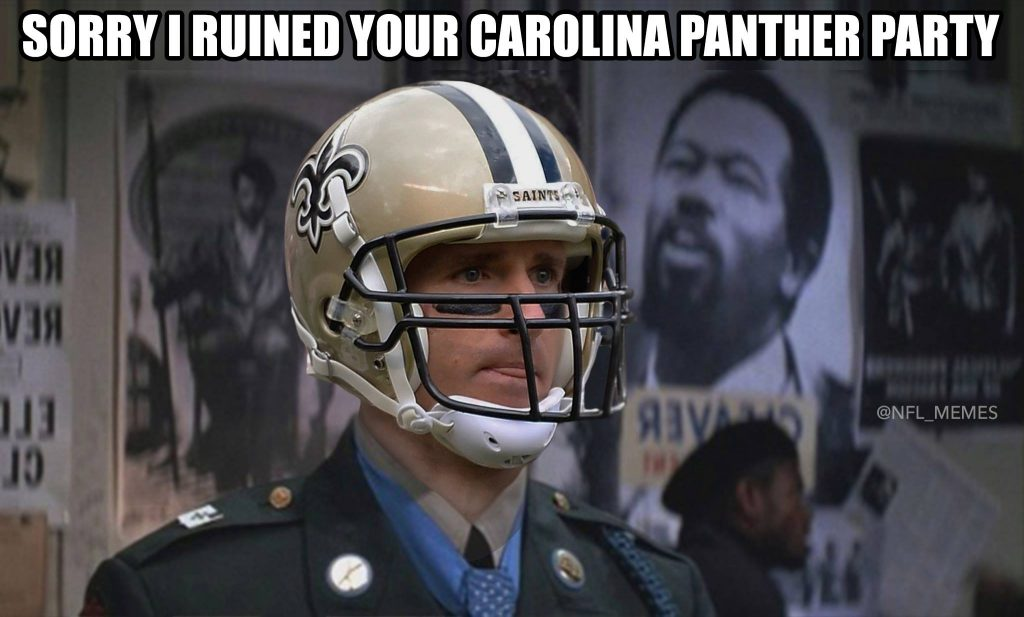 Brees ruins Panther Party