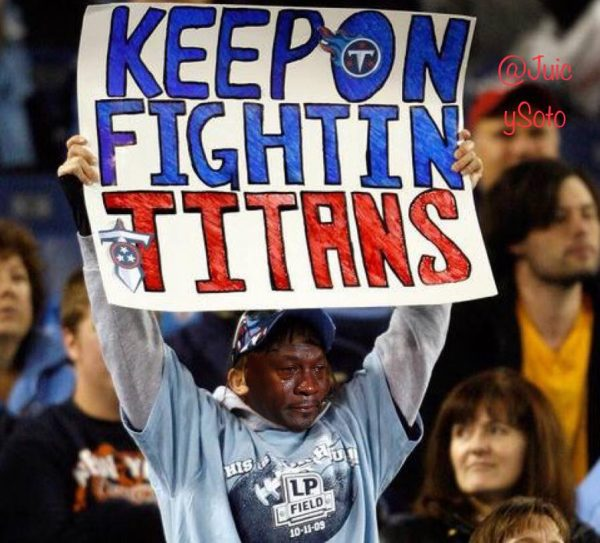 Crying Jordan Titans Fan