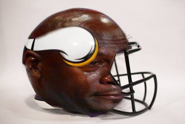 Crying Jordan Vikings Helmet
