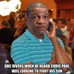 Doc Rivers hearing about his son