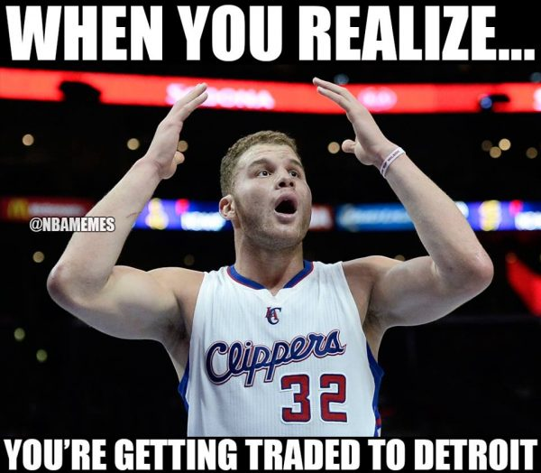 Getting traded to Detroit