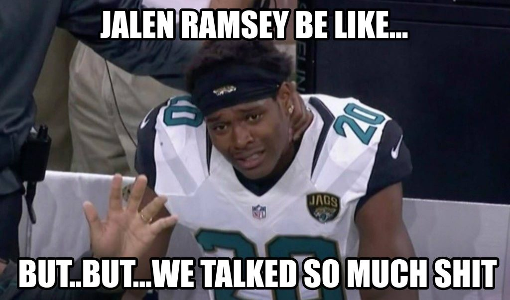 Jalen Ramsey Trash Talk Fail
