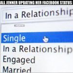 Kendall Jenner new facebook status