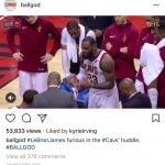 Kyrie Irving likes on Instagram