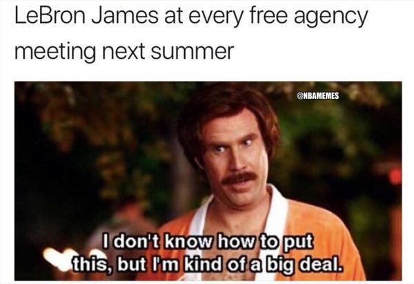 LeBron James free agency meme