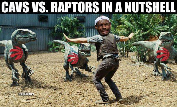LeBron Raptors Jurassic World