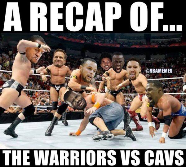 LeBron Warriors Royal Rumble