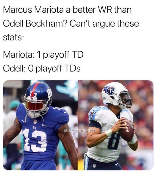Mariota vs Odell