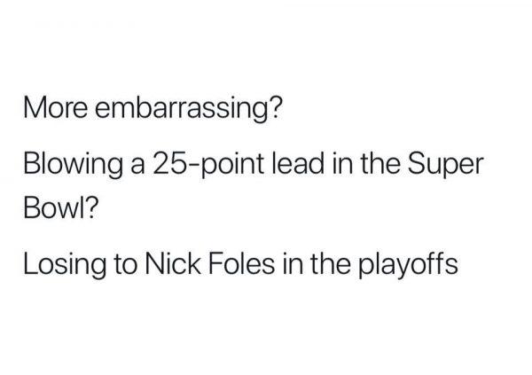 More Embarrassing Falcons