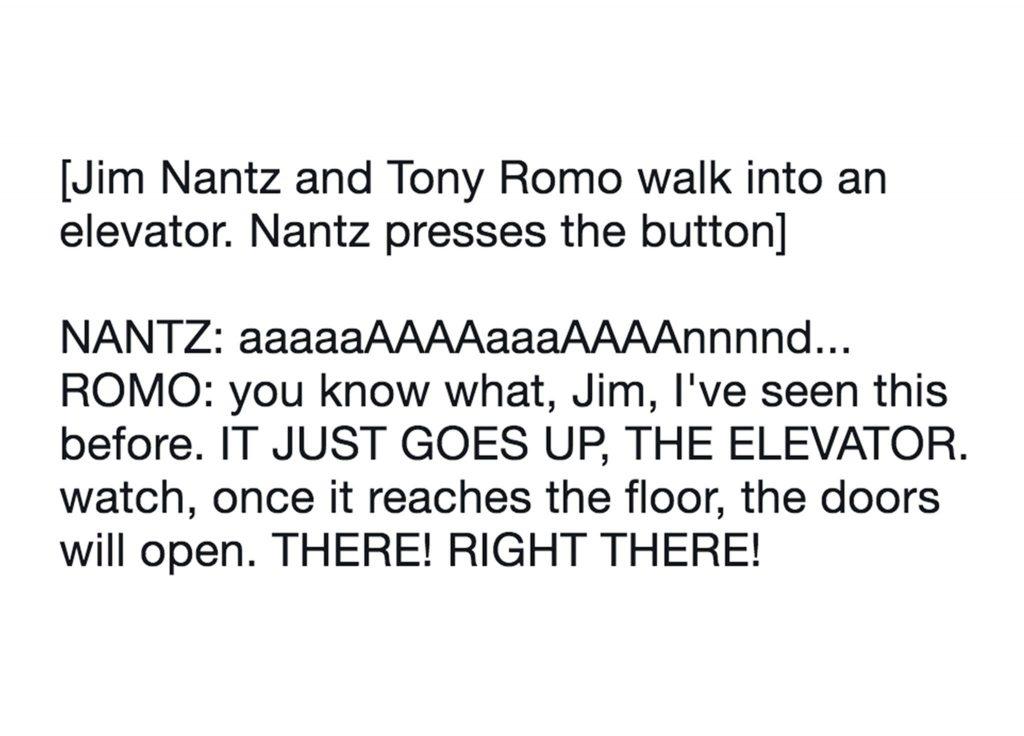 Nantz Romo Conversation