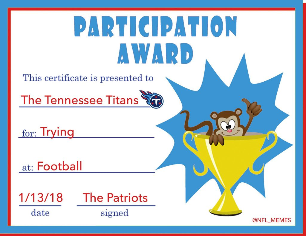 Participation Award Titans