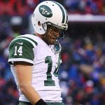 Ryan Fitzpatrick in the snow